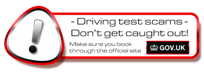 Don´t get scammed! book your theory or driving test in Bourne on the .gov site